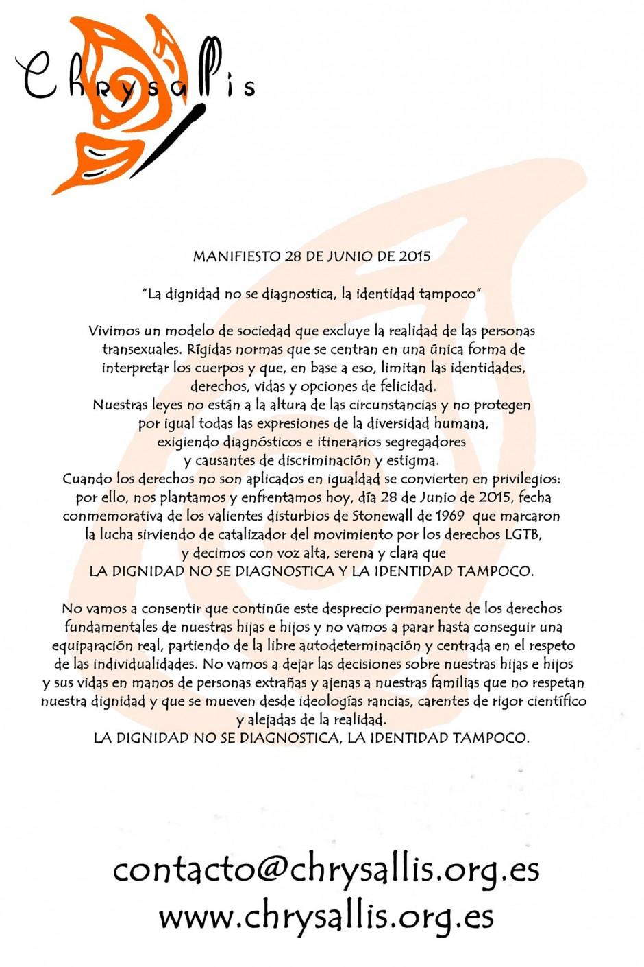 manifiesto Chrysallis